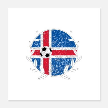 Pitch Iceland Football logo - Poster 16x16