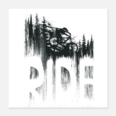 Ride Bike Ride and Drop - Poster 16x16