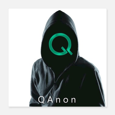 Anonymous QAnon Green - Poster 16x16