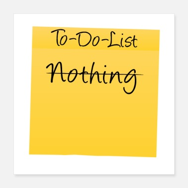 Motivational To-Do-List: Nothing - Poster