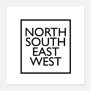 North Sea north south east west - Poster 16x16