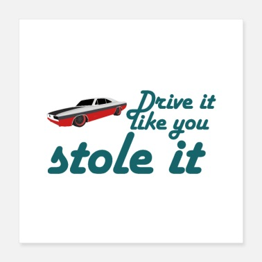 Drive Go By Car drive it like you stole it - Poster 16x16