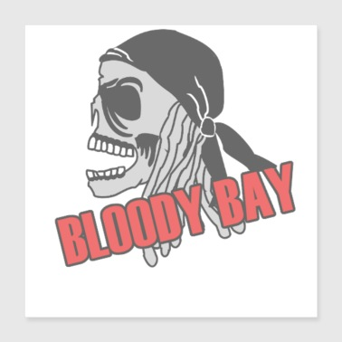 Turn On Bloody Bay Skull - Poster 16x16