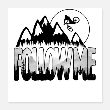 Bicycle Follow Me - Poster 16x16