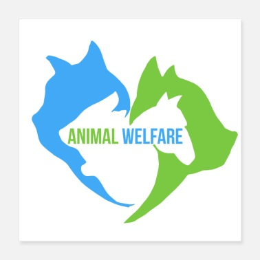 Horseman Animal Welfare Cat Dog Horse Rabbit - Gift idea - Poster 16x16