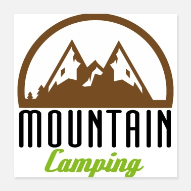 Outdoor Outdoor Mountain Camping Black Gift Idea - Poster 16x16