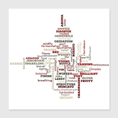 Wine The Words of Wine - Poster 16x16