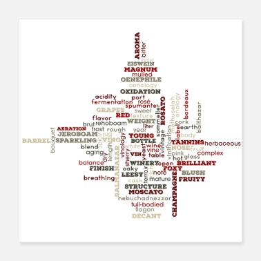 Word The Words of Wine - Poster 16x16