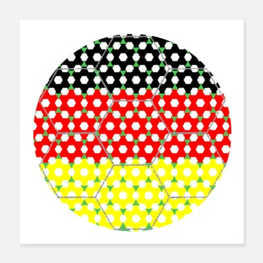 Soccer Ball Soccer Flag Germany - Poster 16x16