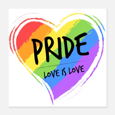 Parade LGBT pride love is love - Poster 16x16
