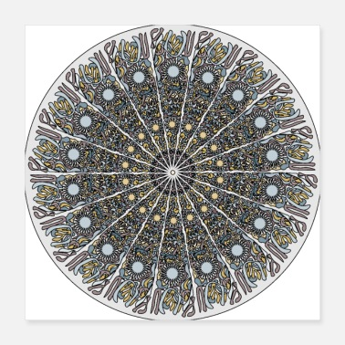 Pattern The Mystic Mandala - Poster 16x16