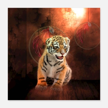 Cute Tiger Cute little tiger - Poster 16x16