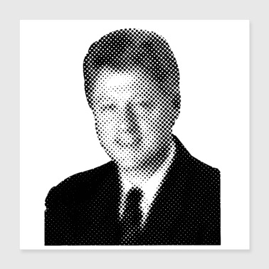 Celebrate Pixelated Celebrities Bill Clinton President USA - Poster 16x16