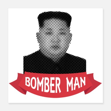 Celebrate Pixelated Celebrities Kim Jong Un Bomber Man - Poster 16x16