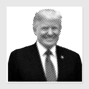 Pixelated Celebrities Trump President smiling - Poster 16x16