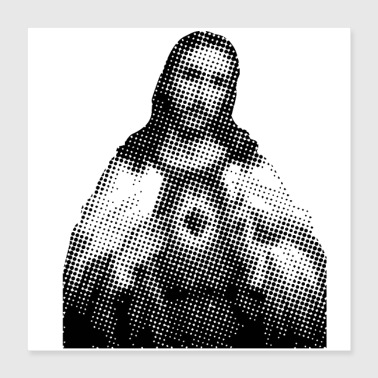 Celebrate Pixelated Celebrities Jesus Christ Holy Church - Poster 16x16