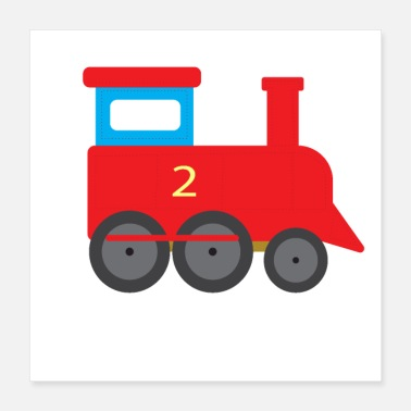 Transport Train for kids steam engine trains tram railway - Poster