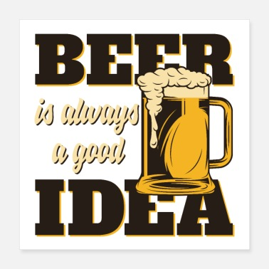 Craft Beer Men like beer - Poster 16x16