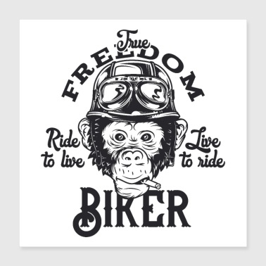 Biker bikers are cool - Poster 16x16