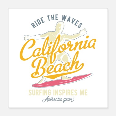 Beach california beach - Poster 16x16