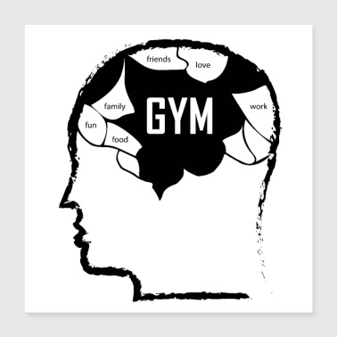 gym and sport life - Poster 16x16