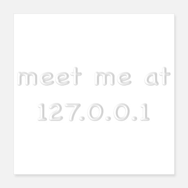 Meeting meet me at 127.0.0.1 -white - Poster 16x16