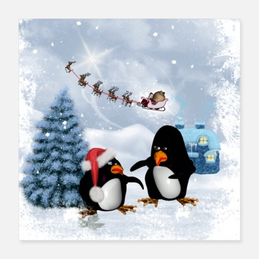 Advent Funny penguin - Poster 16x16