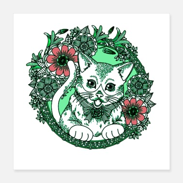 Rest Cat in Nature Poster - Poster 16x16