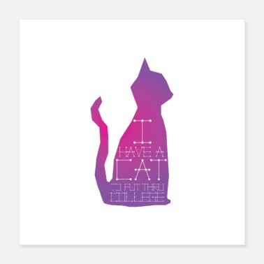 Lady Cat College - Poster 16x16