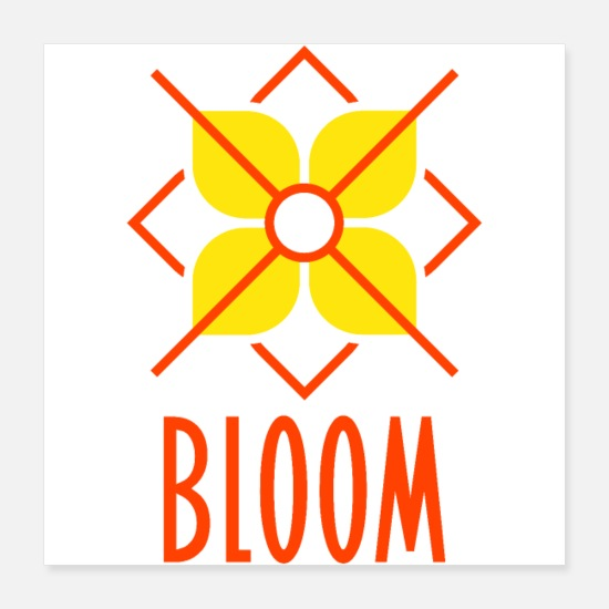 Birthday Posters - Bloom - Poster 16x16 white