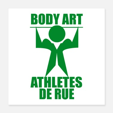Athletes body art athlete de rue - Poster 16x16