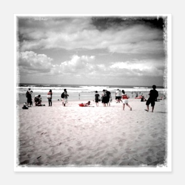 Beach Volleyball Summer Beach - Poster 16x16