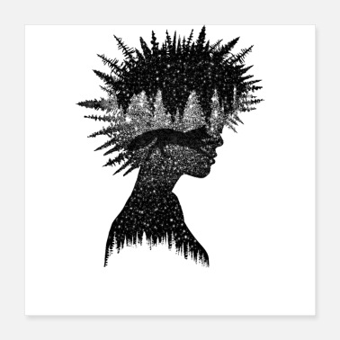 Black And White Collection Natural Punk - Poster 16x16