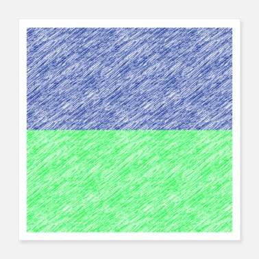 Quadrat Oblong greenblue - Poster 16x16