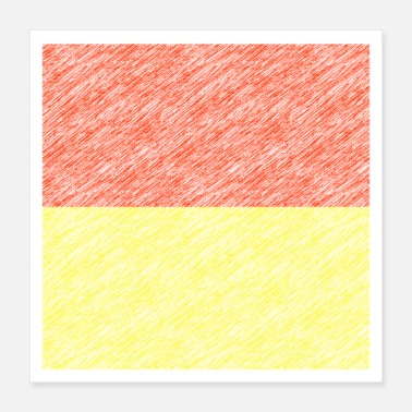 Quadrat oblong red-yellow - Poster 16x16