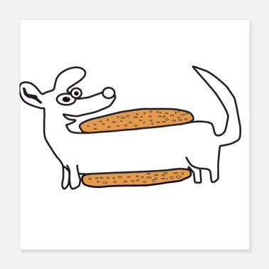 Ecology Hot Dog day dog lover gift idea sweet pet - Poster 16x16