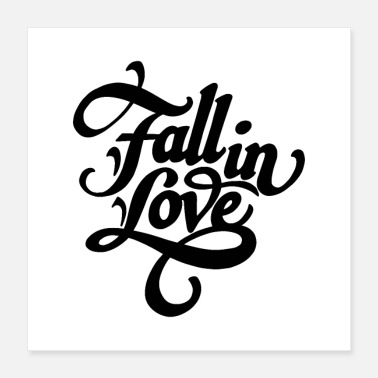 Fall fall in love 01 - Poster 16x16