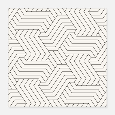 Hexagon Interlaced Seamless Stripes Pattern - Poster 16x16