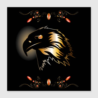 Awesome eagle in gold and black - Poster 16x16