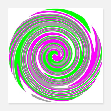 Swirl Pink and green swirl pattern - Poster
