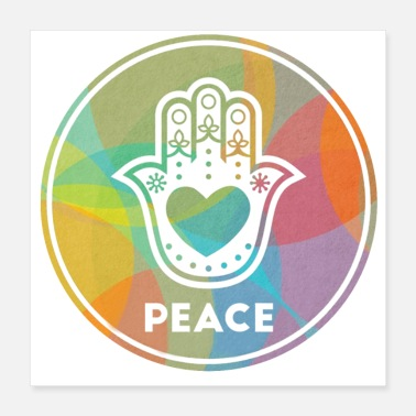 Popular Hamsa for Peace - Poster 16x16