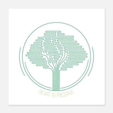 Ecology tree to preserve - Poster 16x16