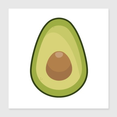 Avocado is My Spirit Fruit - Poster 16x16