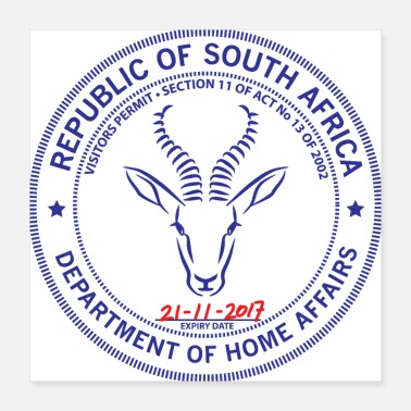 Africa South Africa Passport Stamp - Poster
