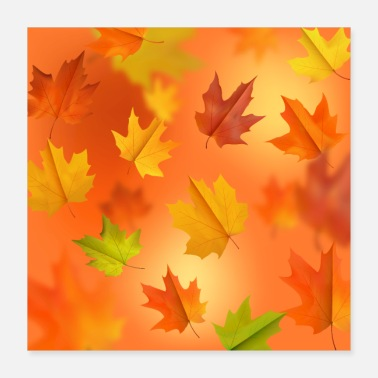 Fall Fall Background - Poster 16x16
