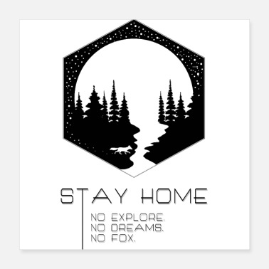 Flora Stay Home - Poster 16x16