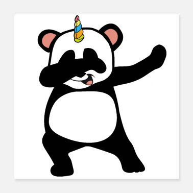 Yourself Always be yourself Dabbing Panda Pandicorn - Poster 16x16