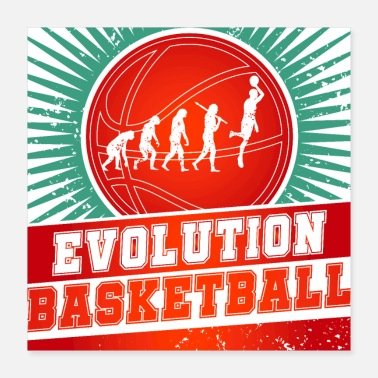 Ball Sport Basketball Evolution - Poster 16x16