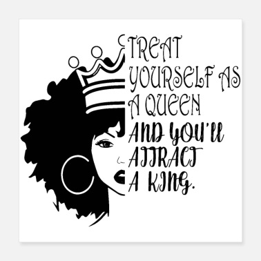 Glamour Queen Woman Life Quotes Diva Queen Classy lady - Poster