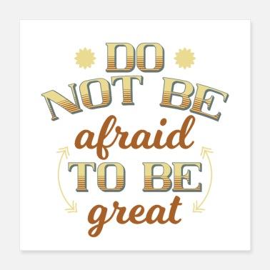 Font Do not be afraid - Poster 16x16